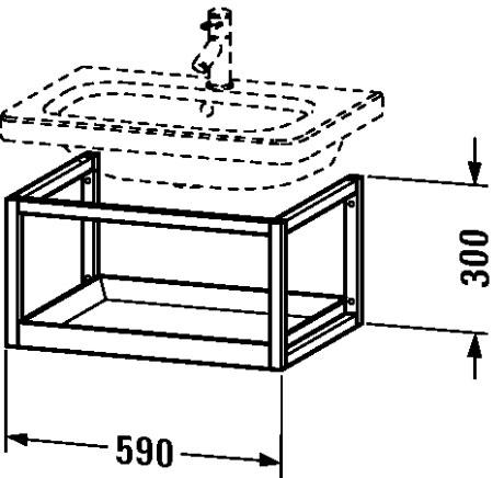 durastyle m bel accessoire ablage wandh ngend ds9871 duravit. Black Bedroom Furniture Sets. Home Design Ideas