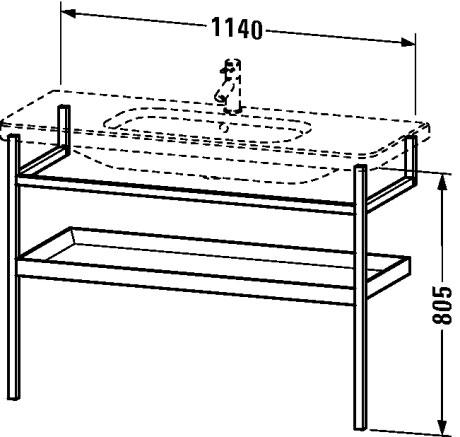 durastyle m bel accessoire handtuchhalter mit ablage ds9884 duravit. Black Bedroom Furniture Sets. Home Design Ideas