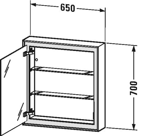 L Cube Spiegelschrank Lc7550 L R Duravit