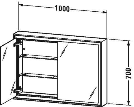 L Cube Spiegelschrank Einbauvariante Lc7652 Duravit