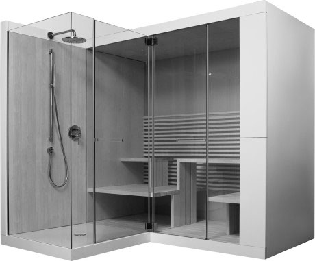 inipi inipi ama sauna vorwand und eckversion 7503 duravit. Black Bedroom Furniture Sets. Home Design Ideas