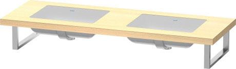 delos konsole f r einbauwaschtische von unten f bonded dl033c duravit. Black Bedroom Furniture Sets. Home Design Ideas