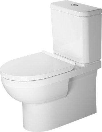 Sehr DuraStyle Basic Stand-WC Kombination Duravit Rimless® #218209 YJ27