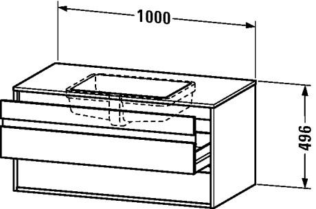 ketho waschtischunterbau wandh ngend f r einbauwaschtisch von unten f bonded kt6855 duravit. Black Bedroom Furniture Sets. Home Design Ideas