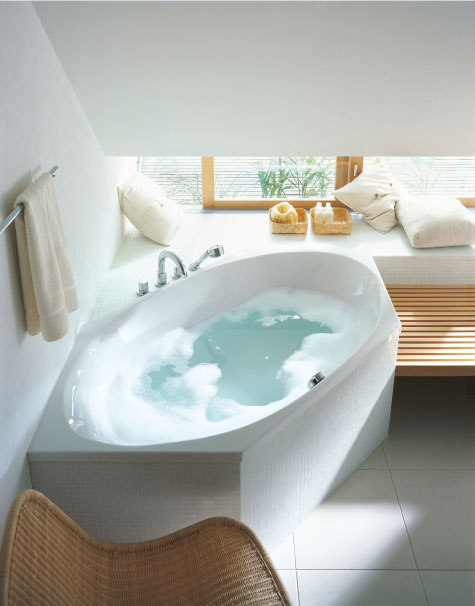 Badewannen - freistehend oder eingebaut | Duravit | {Badewanne halb freistehend 60}