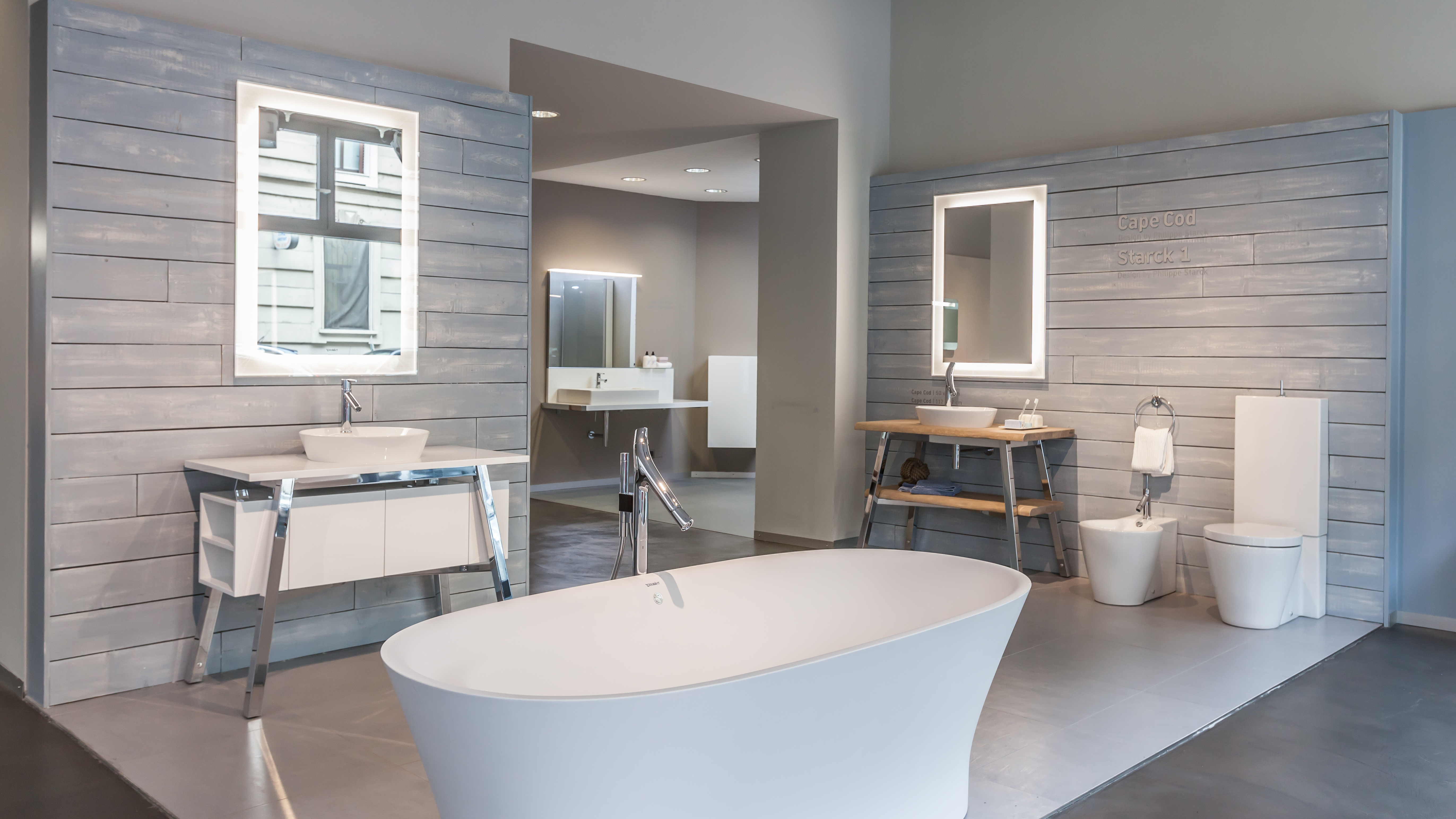 and smart tile showroom connected bathtub