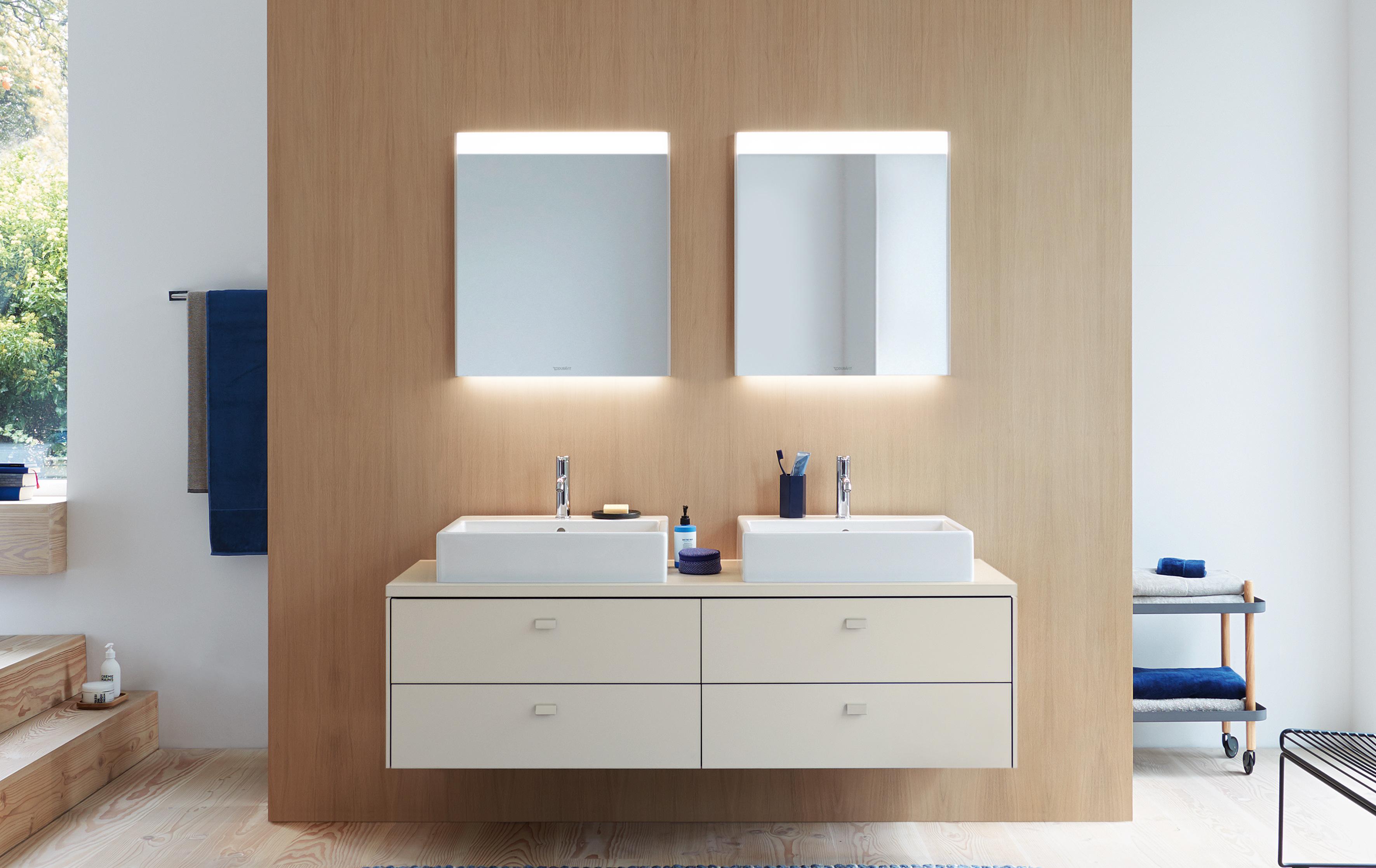 Modernes Badezimmer Designer Badspiegel Konzept Wohndesign