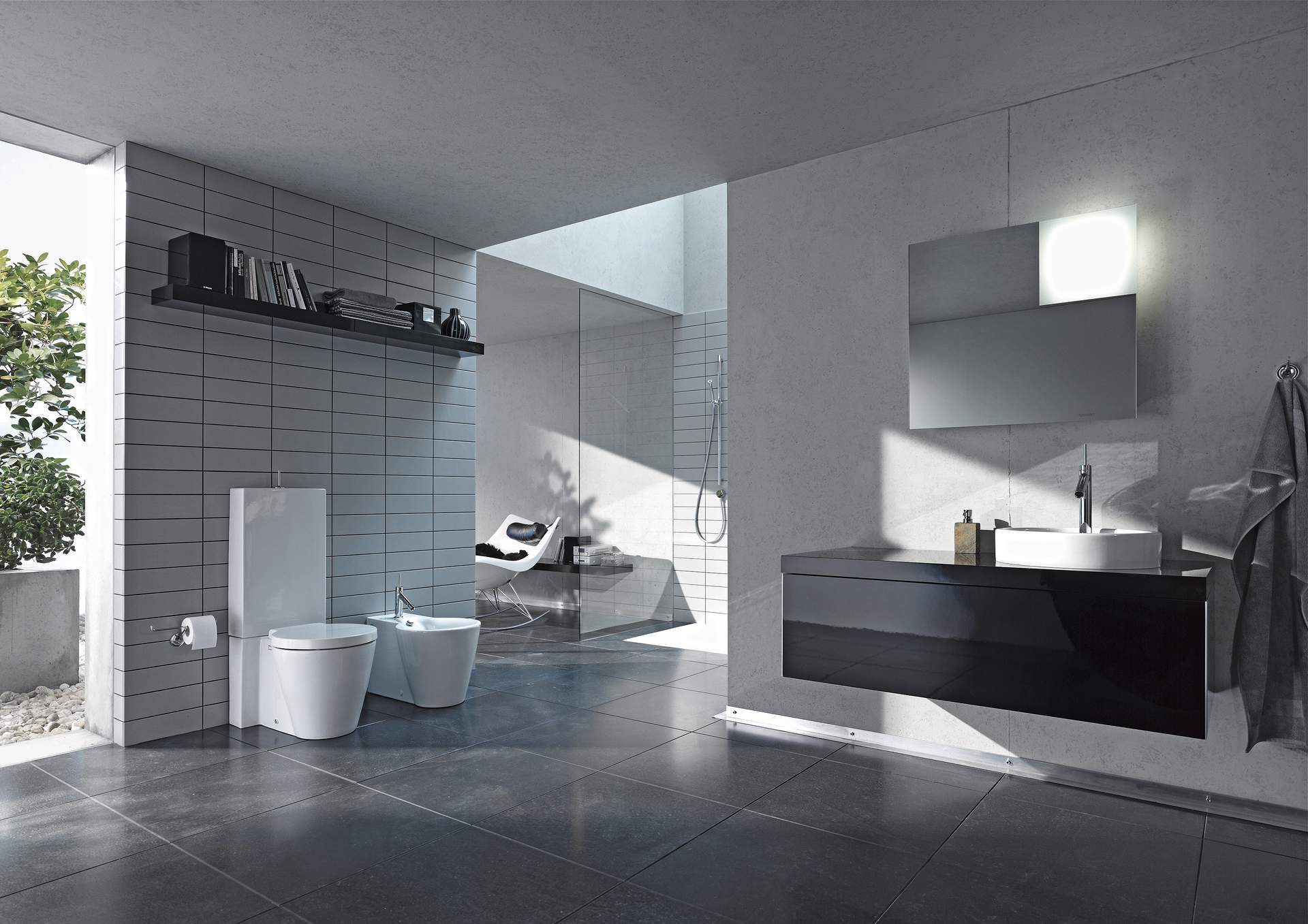 Design Bad In Schwarz Weiß | Duravit